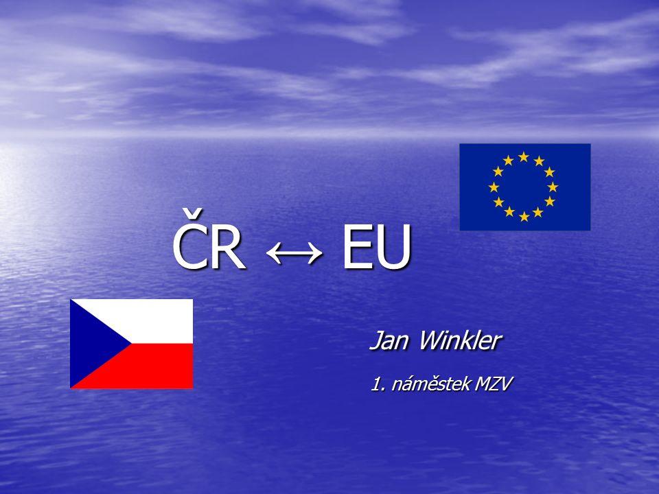 ČR ↔ EU Jan Winkler 1. náměstek MZV