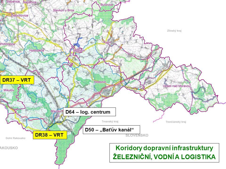 """Koridory dopravní infrastruktury ŽELEZNIČNÍ, VODNÍ A LOGISTIKA D50 – """"Baťův kanál D64 – log."""
