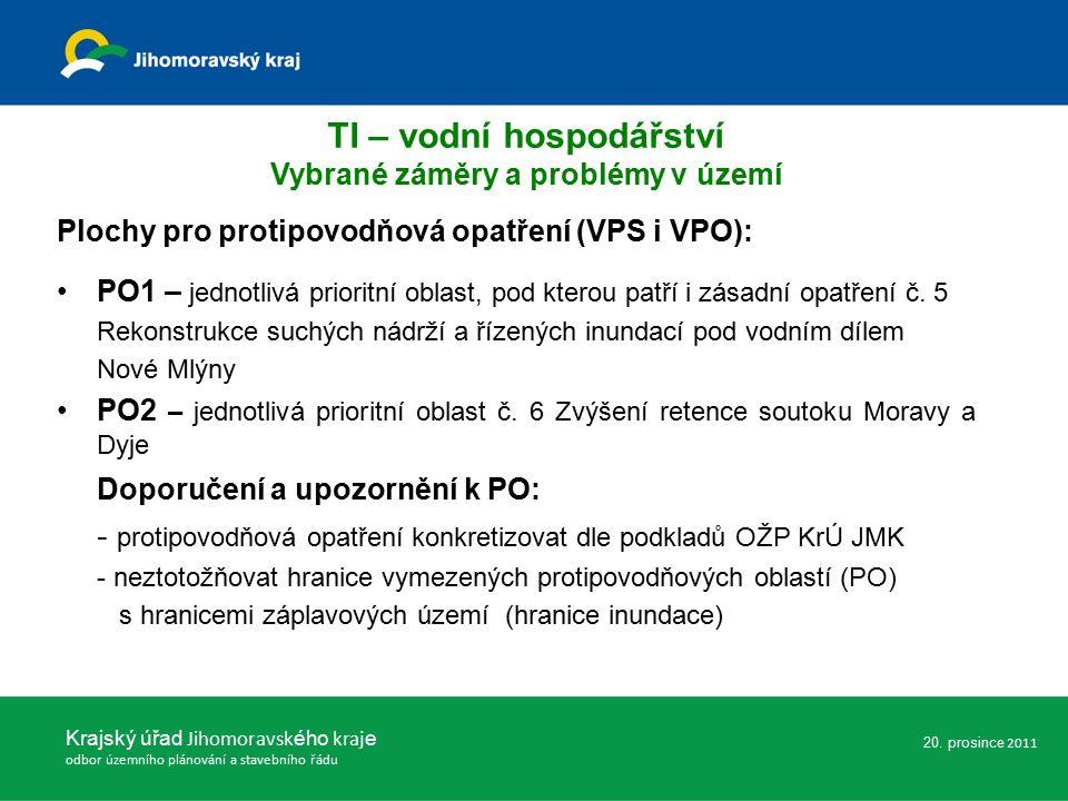 Plochy pro protipovodňová opatření (VPS i VPO): PO1 – jednotlivá prioritní oblast, pod kterou patří i zásadní opatření č.
