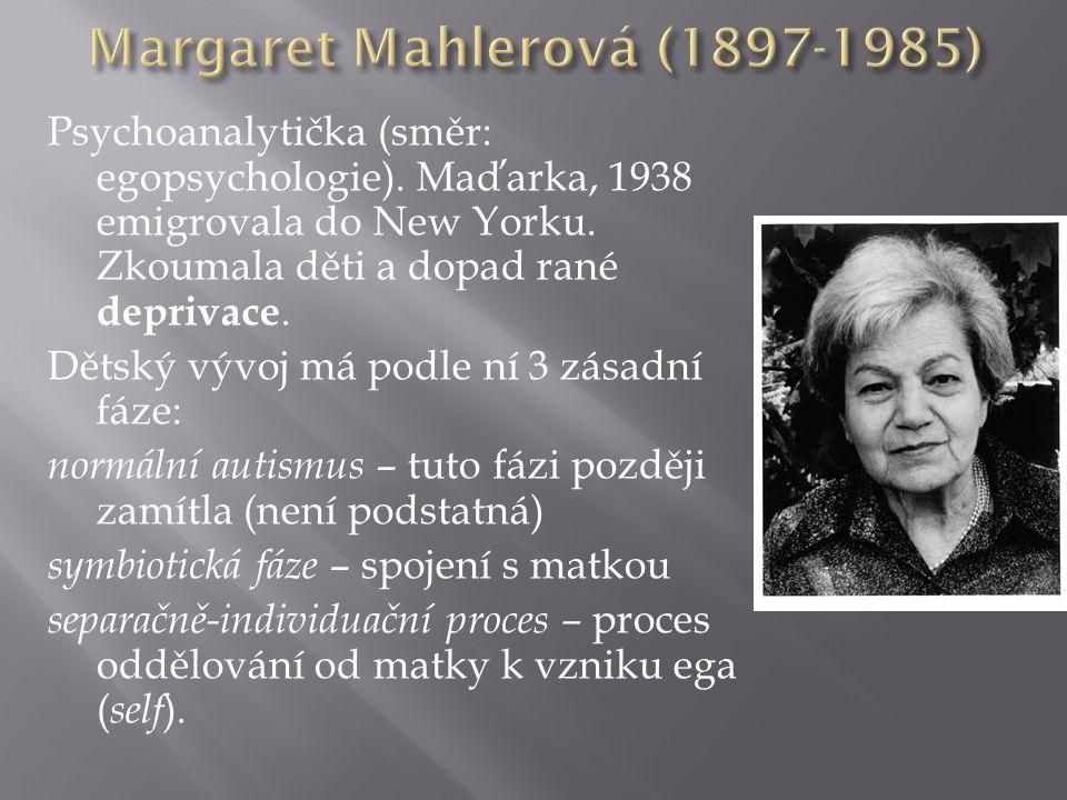 Psychoanalytička (směr: egopsychologie). Maďarka, 1938 emigrovala do New Yorku.