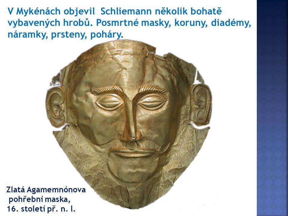 Zlatá Agamemnónova pohřební maska, 16. století př.