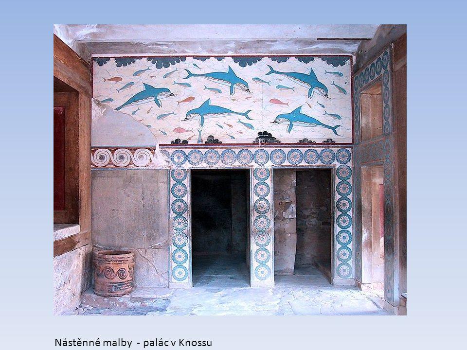 Nástěnné malby - palác v Knossu