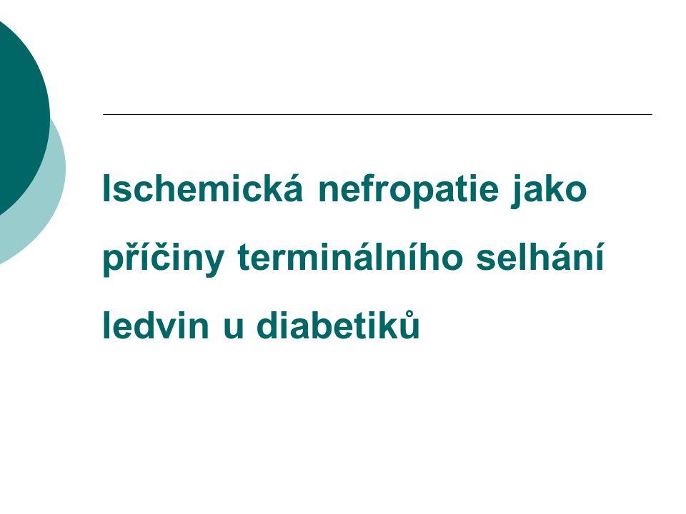 Ischemická nefropatie jako příčiny terminálního selhání ledvin u diabetiků