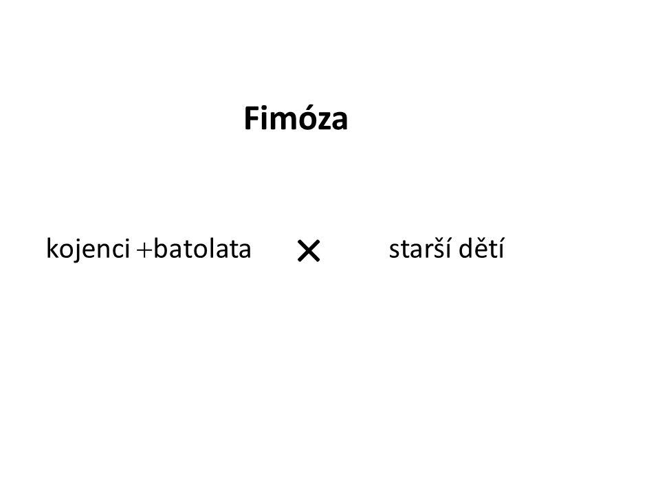 kojenci  batolata starší dětí × Fimóza