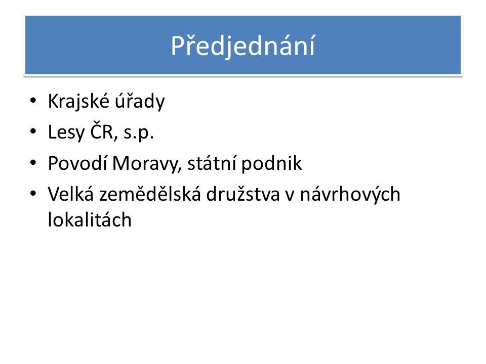 Předjednání Krajské úřady Lesy ČR, s.p.