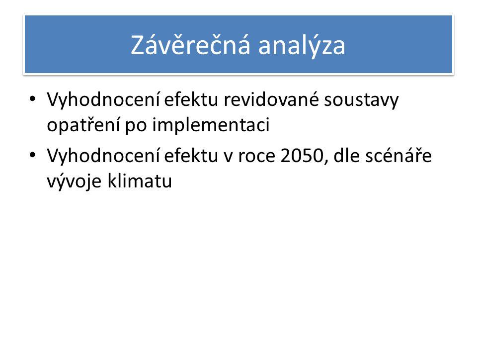 Závěrečná analýza Vyhodnocení efektu revidované soustavy opatření po implementaci Vyhodnocení efektu v roce 2050, dle scénáře vývoje klimatu