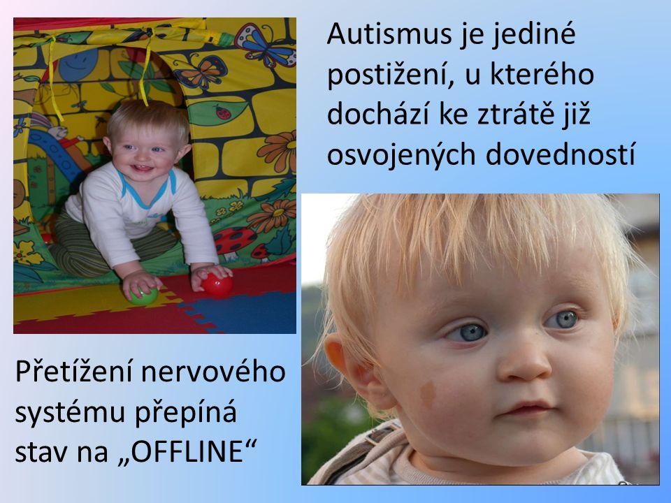 """Autismus je jediné postižení, u kterého dochází ke ztrátě již osvojených dovedností Přetížení nervového systému přepíná stav na """"OFFLINE"""