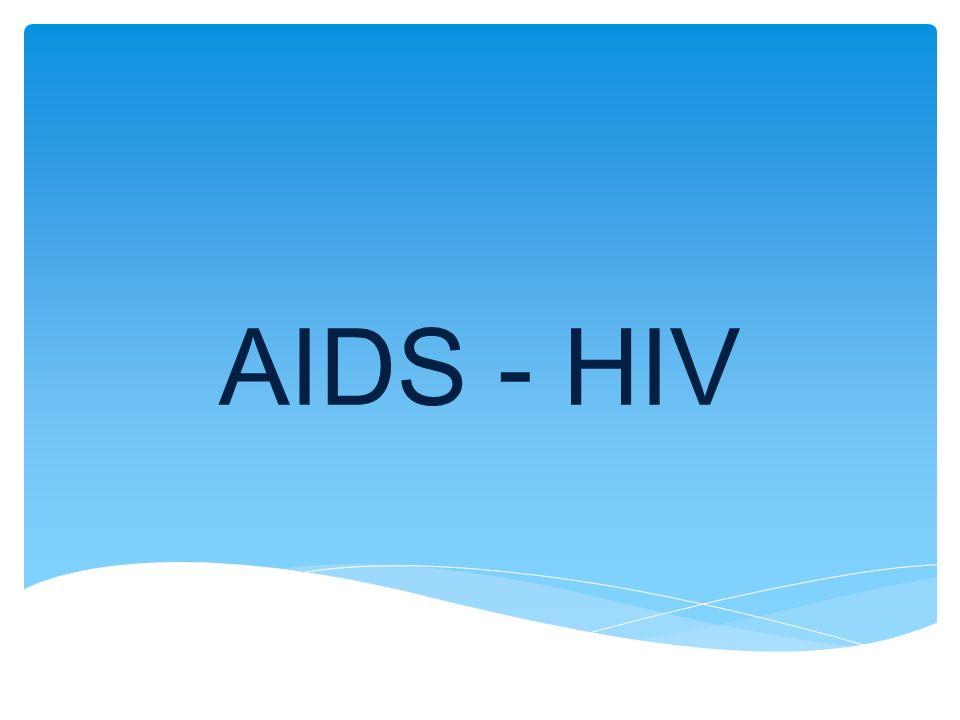 AIDS  onemocnění způsobené virem HIV  syndrom získaného selhání imunity  nejvíce nemocných je v Africe, USA, Evropě  nemoc je neléčitelná HIV  virus způsobující onemocnění AIDS  způsobuje selhání obranyschopnosti organismu  napadá a ničí bílé krvinky  vyskytuje se v krvi a výměšcích pohlavních orgánů