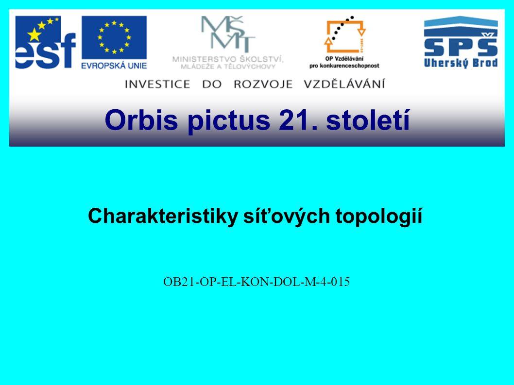 Charakteristiky síťových topologií OB21-OP-EL-KON-DOL-M-4-015 Orbis pictus 21. století