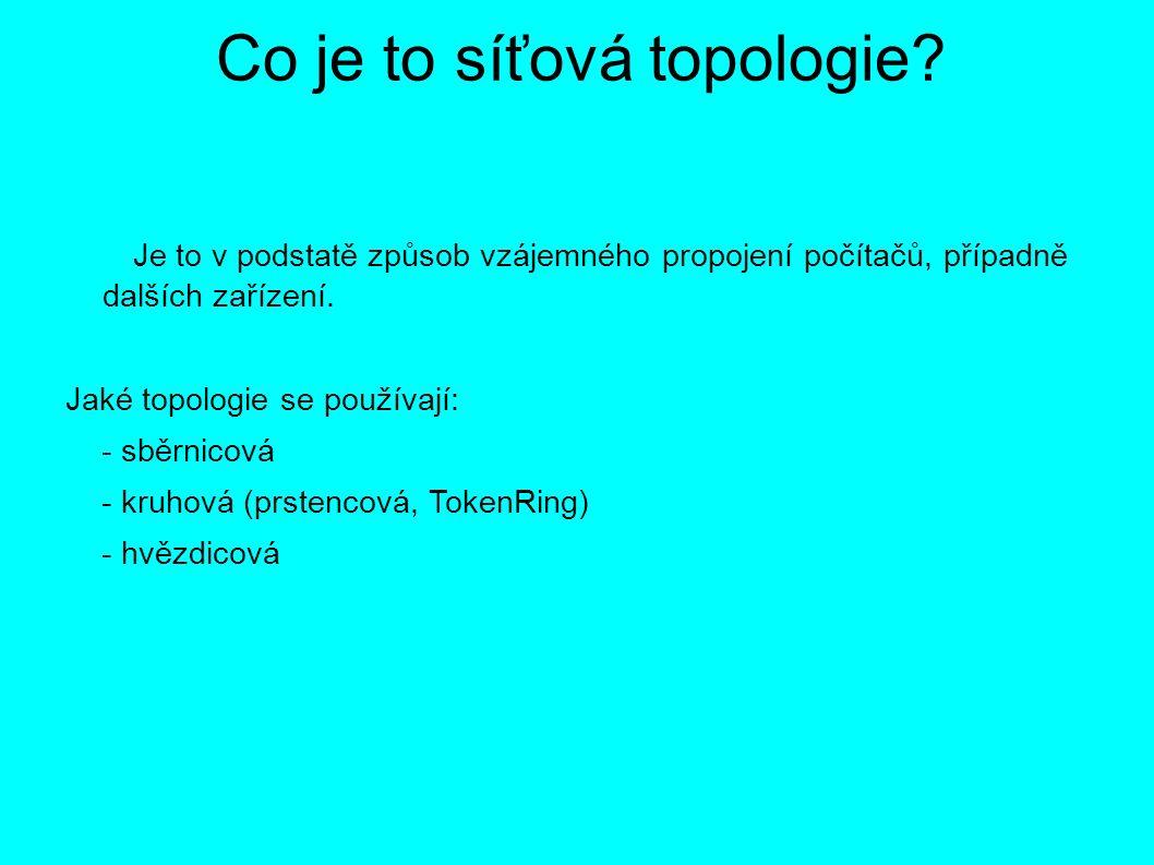 Co je to síťová topologie.