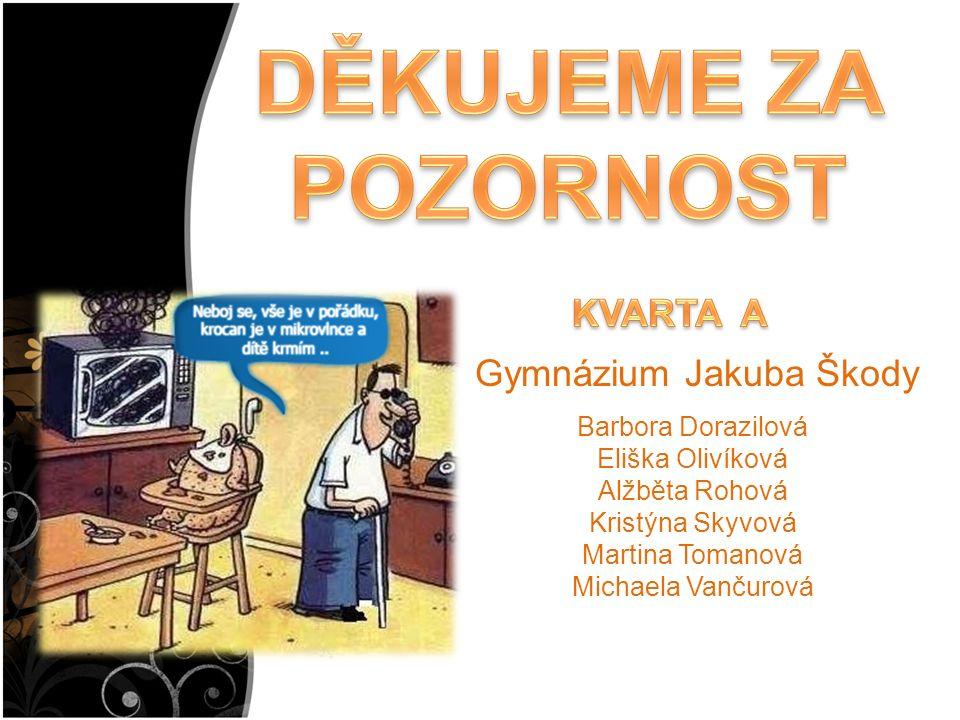 Barbora Dorazilová Eliška Olivíková Alžběta Rohová Kristýna Skyvová Martina Tomanová Michaela Vančurová Gymnázium Jakuba Škody