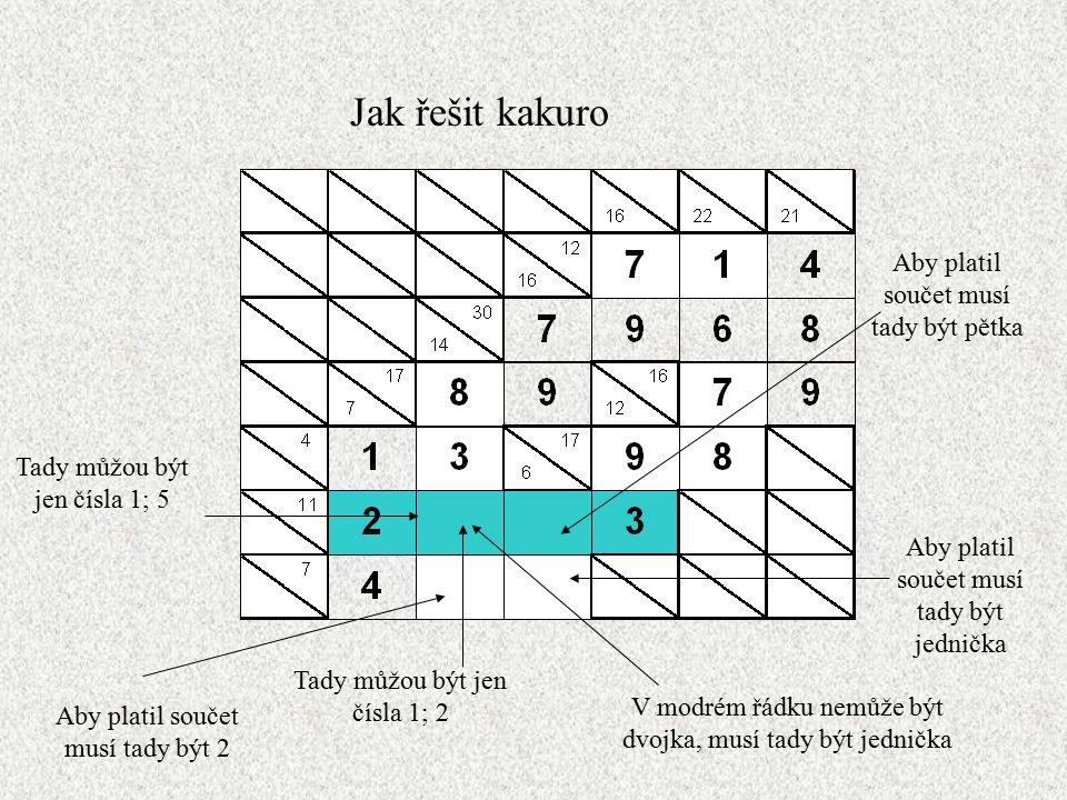 Jak řešit kakuro A kakuro je vyřešeno