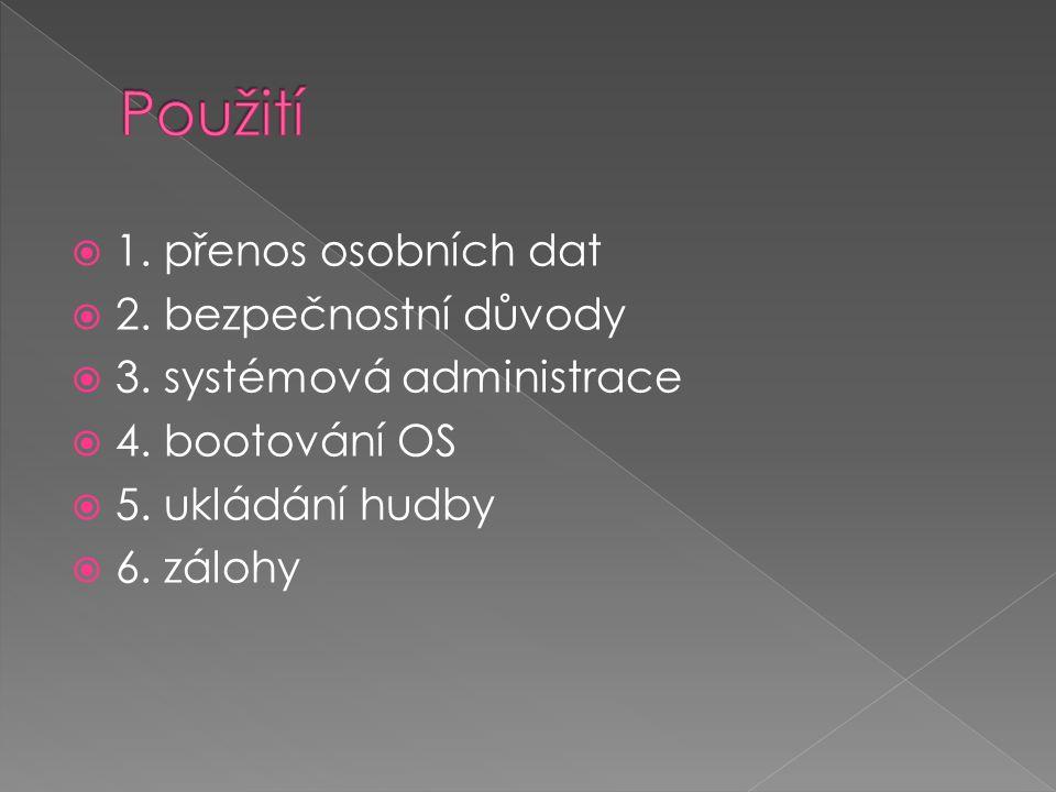  1. přenos osobních dat  2. bezpečnostní důvody  3.