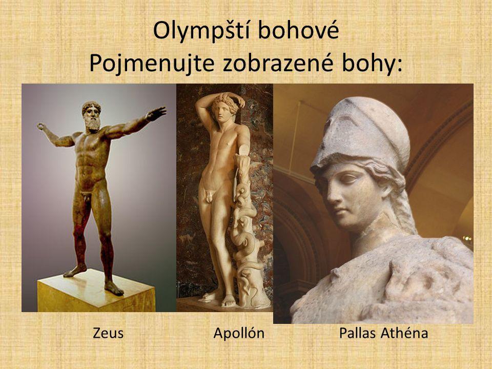 Olympští bohové Pojmenujte zobrazené bohy: NGUYEN, Marie-Lan. Athena [online]. [cit. 30.10.2013]. Dostupný na WWW: http://cs.wikipedia.org/wiki/Soubor