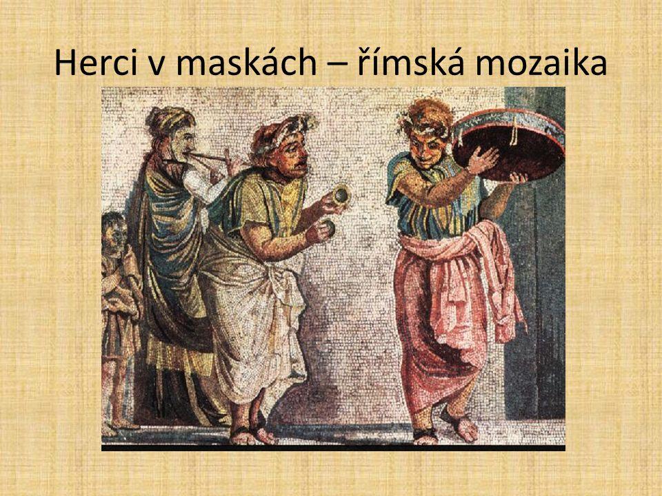 Herci v maskách – římská mozaika