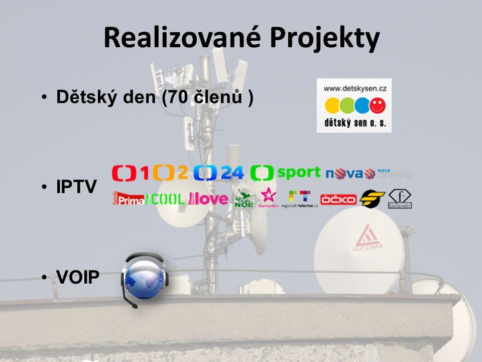 Realizované Projekty Dětský den (70 členů ) IPTV VOIP