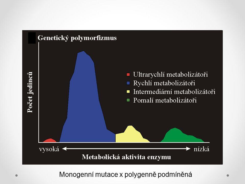 Monogenní mutace x polygenně podmíněná