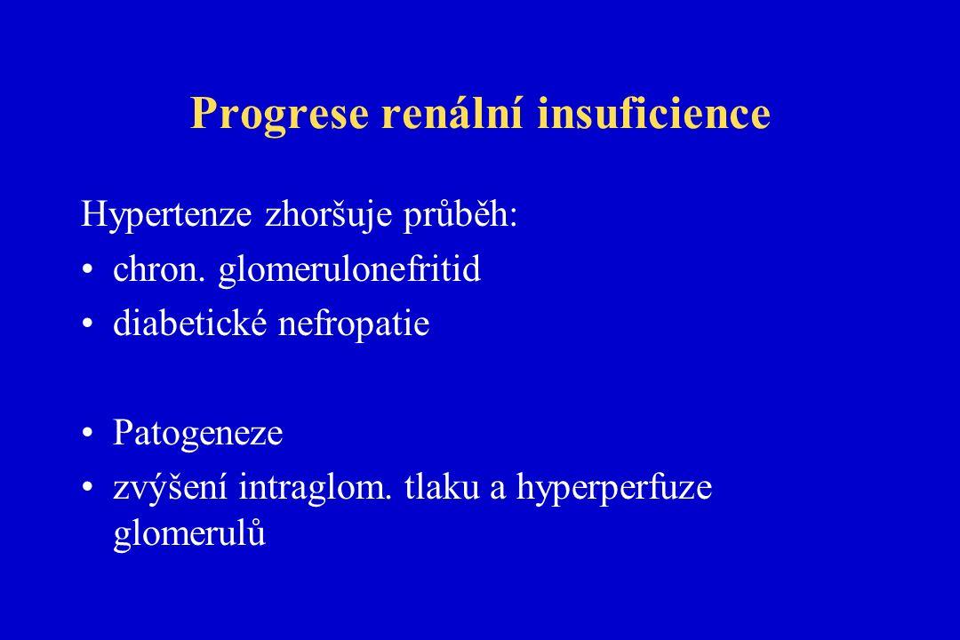 Progrese renální insuficience Hypertenze zhoršuje průběh: chron.