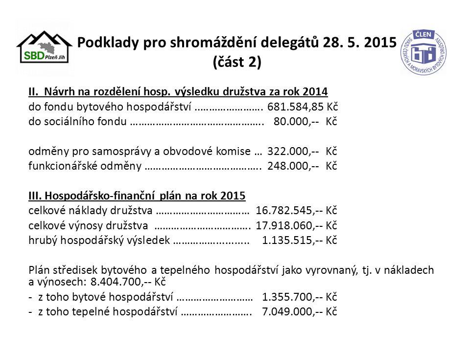 Podklady pro shromáždění delegátů 28. 5. 2015 (část 2) II.