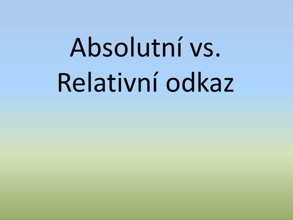 Absolutní vs. Relativní odkaz