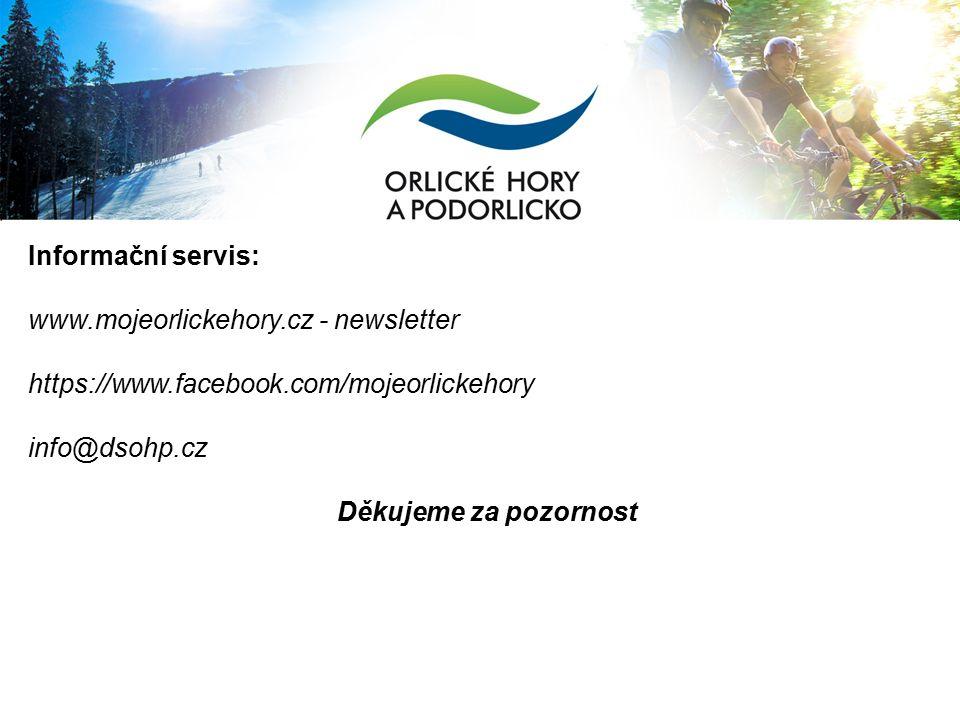 Informační servis: www.mojeorlickehory.cz - newsletter https://www.facebook.com/mojeorlickehory info@dsohp.cz Děkujeme za pozornost