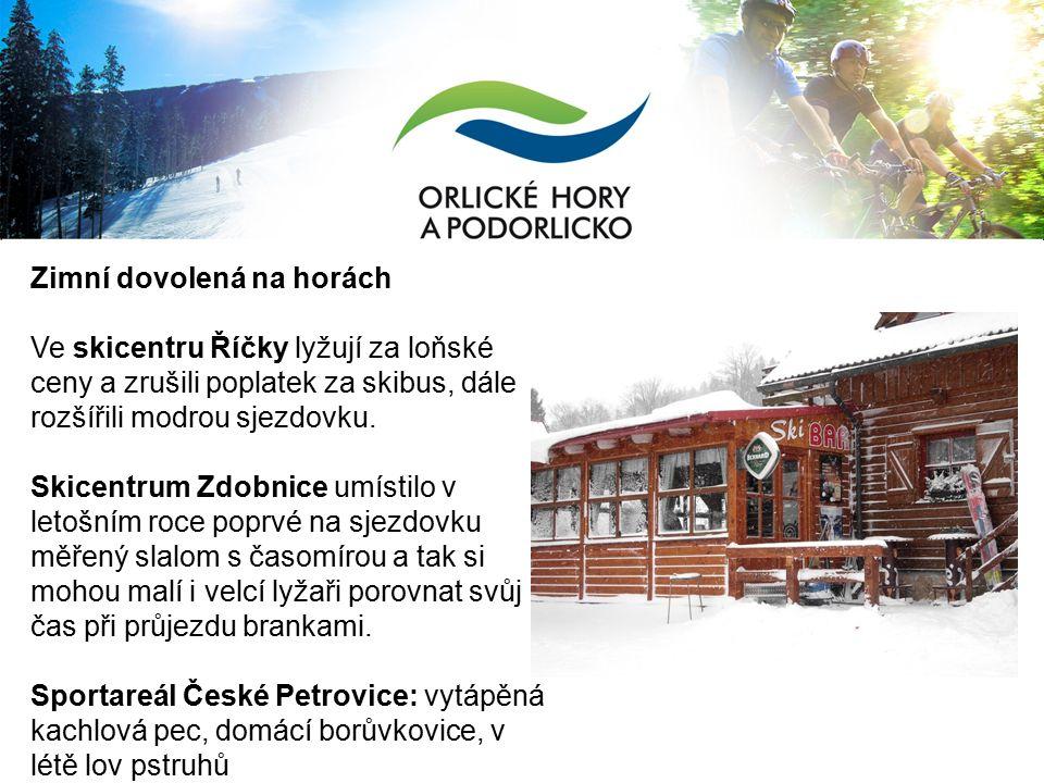 Zimní dovolená na horách Ve skicentru Říčky lyžují za loňské ceny a zrušili poplatek za skibus, dále rozšířili modrou sjezdovku.