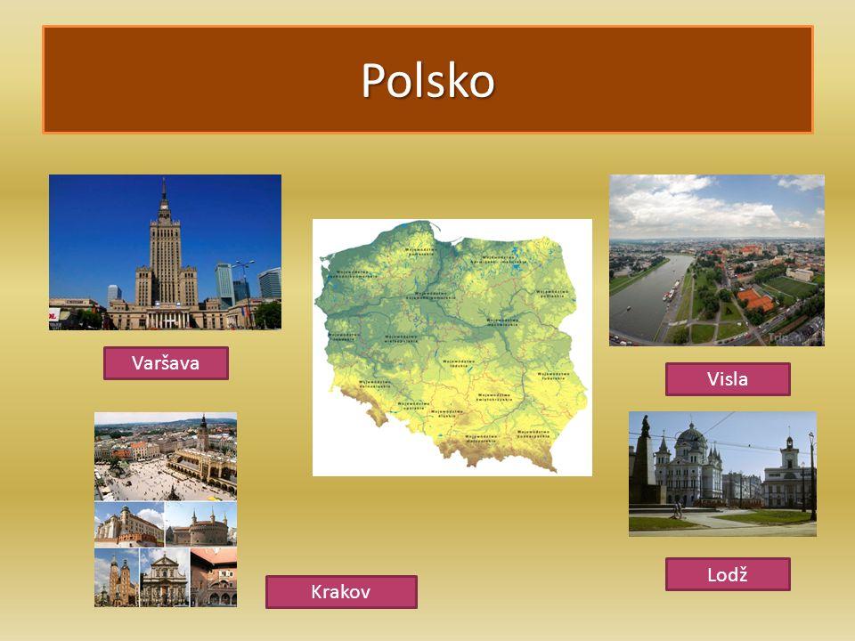 Polsko Varšava Lodž Visla Krakov