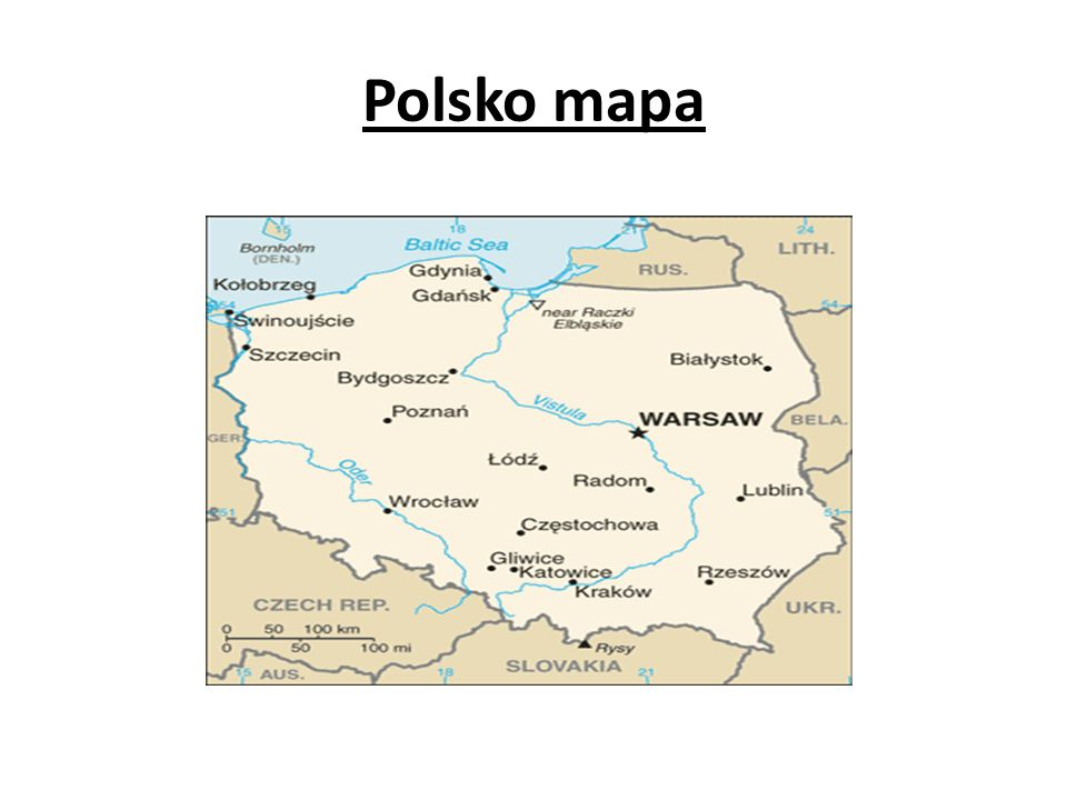 Polsko mapa