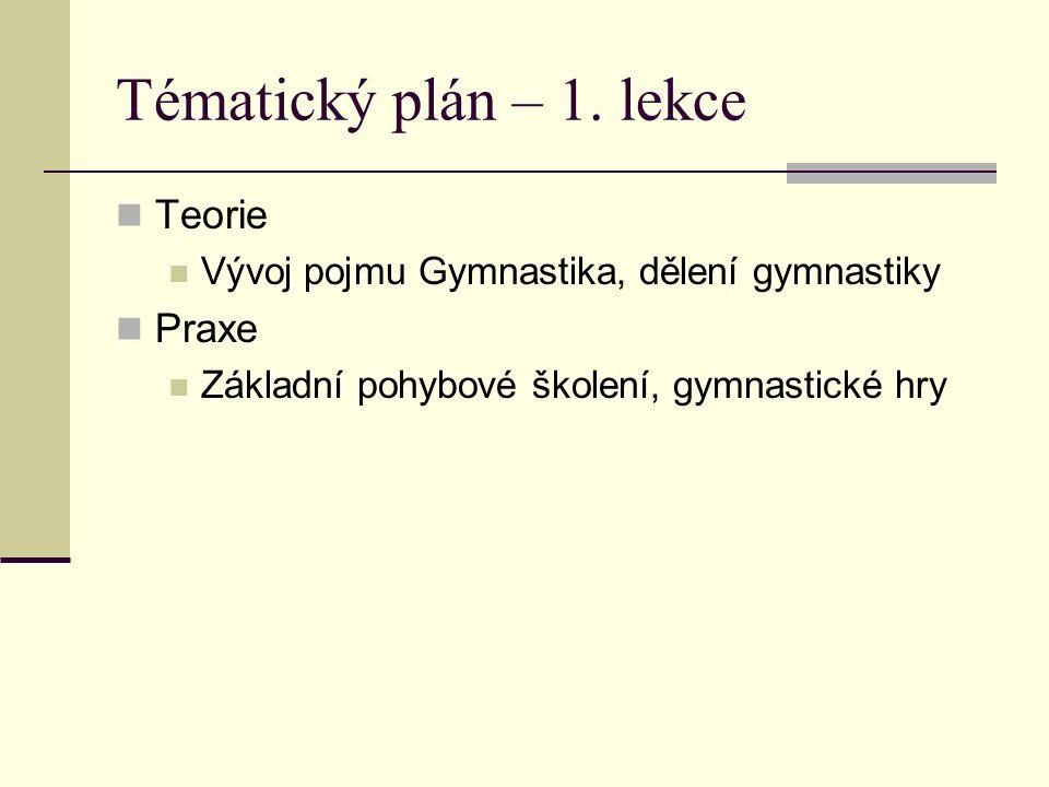 Tématický plán – 1.