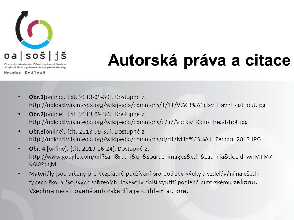 Autorská práva a citace Obr.1[online]. [cit. 2013-09-30].