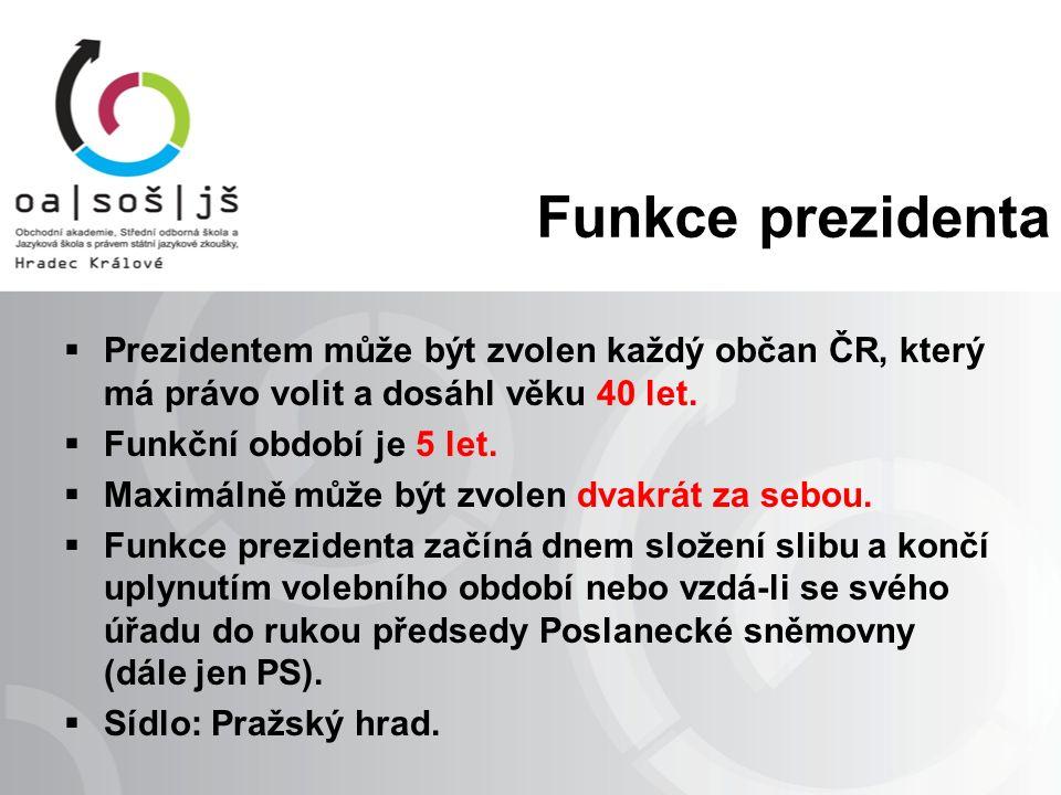 """Slib prezidenta republiky Slib prezidenta republiky zní: """"Slibuji věrnost České republice."""