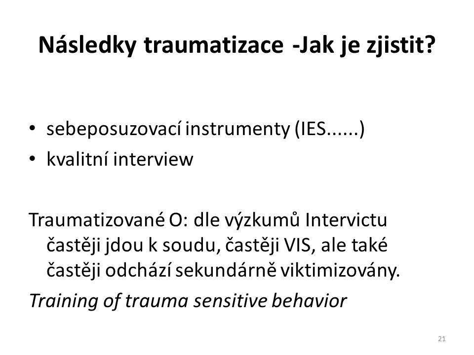 Následky traumatizace -Jak je zjistit.