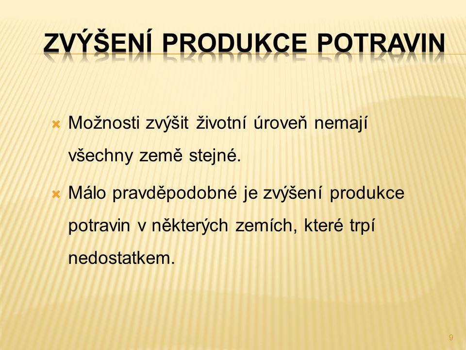  Průmyslový systém pěstování plodin, chov zvířat, výroba potravin a doprava surovin zajišťuje lidem potravu.