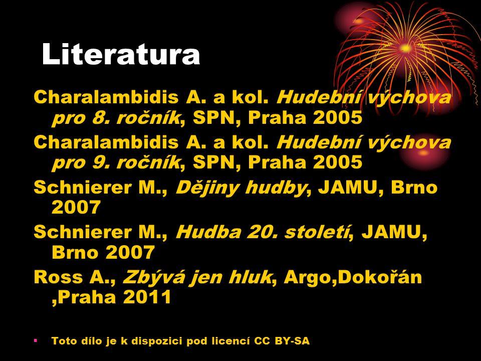 Literatura Charalambidis A. a kol. Hudební výchova pro 8.