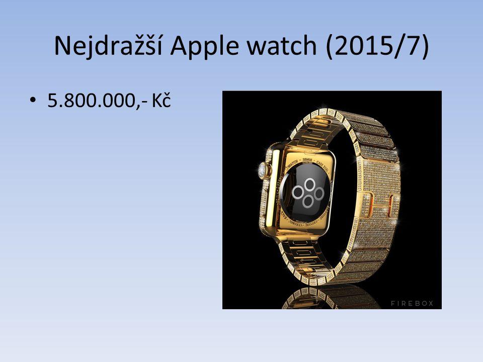 Nejdražší Apple watch (2015/7) 5.800.000,- Kč