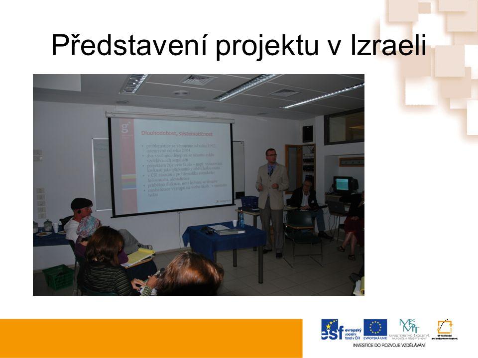 Představení projektu v Izraeli
