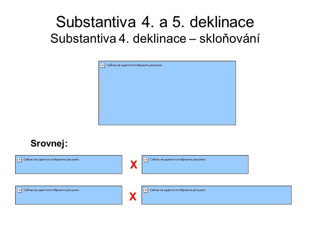 Substantiva 4. a 5. deklinace Substantiva 4. deklinace – skloňování