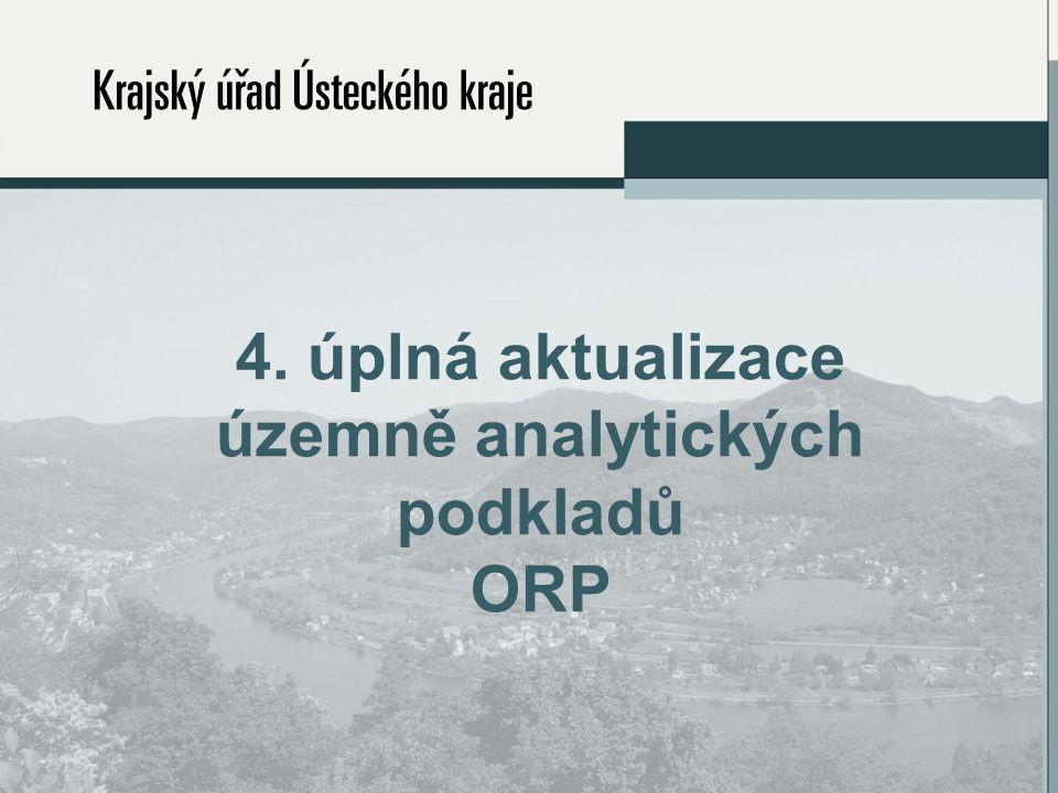 4. úplná aktualizace územně analytických podkladů ORP 1