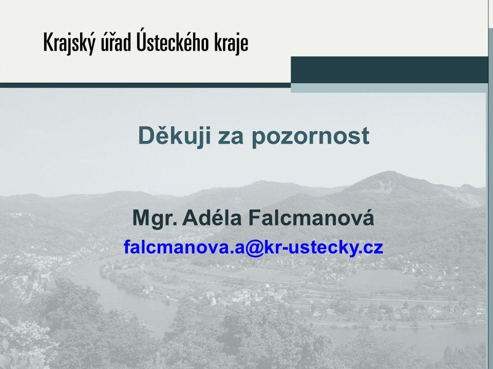 Děkuji za pozornost Mgr. Adéla Falcmanová falcmanova.a@kr-ustecky.cz 9