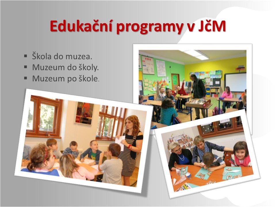Edukační programy v JčM  Škola do muzea.  Muzeum do školy.  Muzeum po škole.