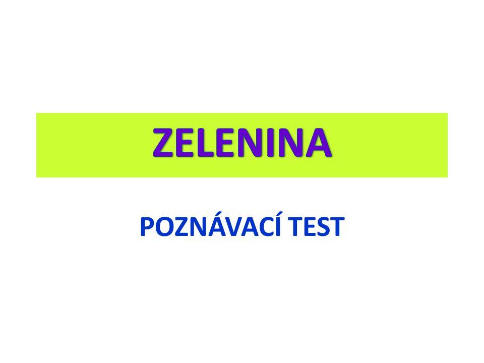 POZNÁVACÍ TEST