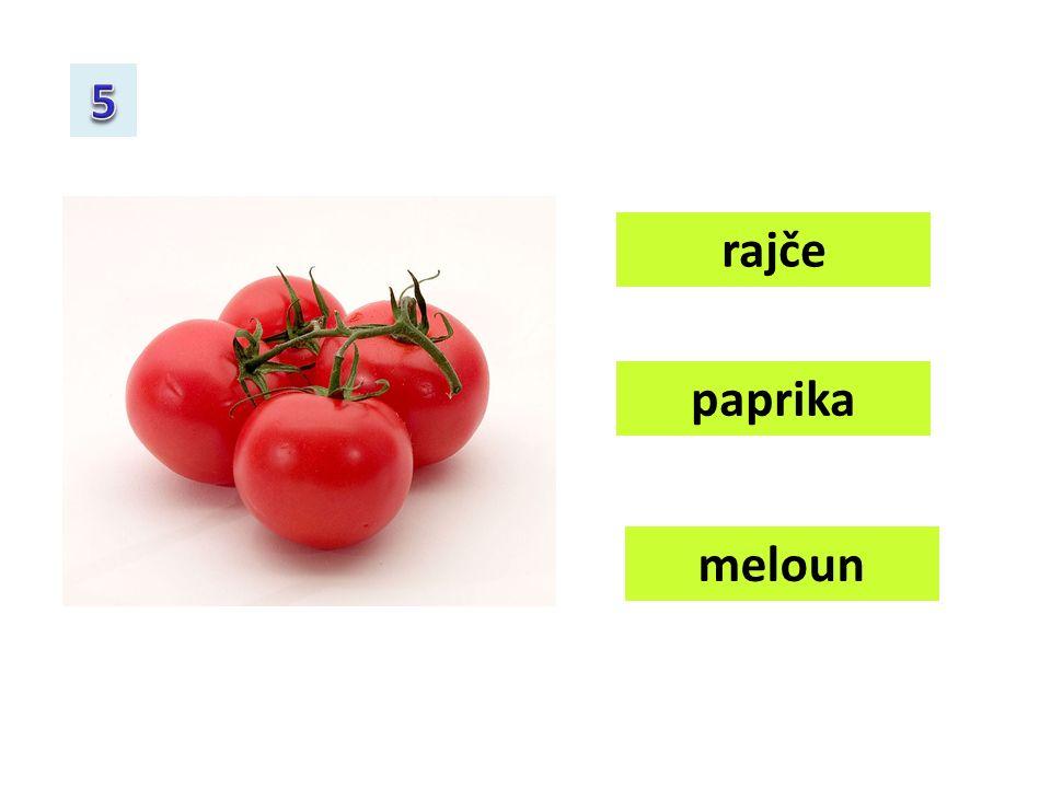 rajče paprika meloun