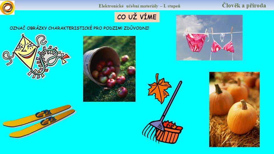 Elektronické učební materiály – I. stupeň Člověk a příroda Autor: Mgr.