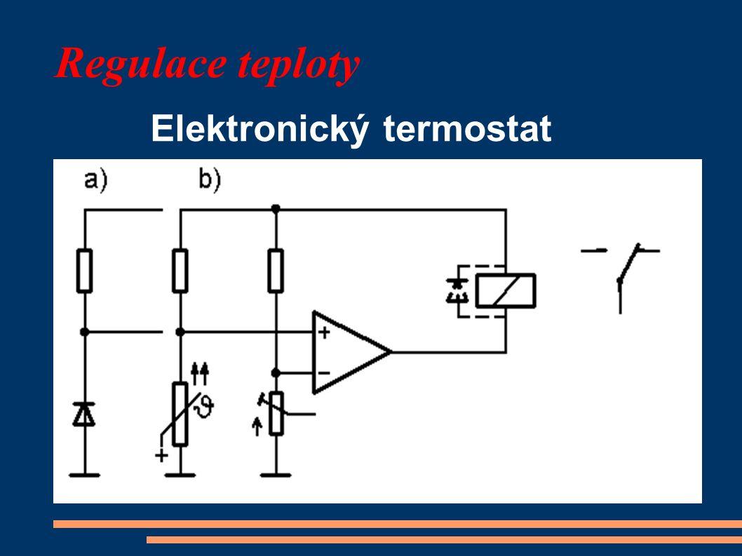 Regulace teploty Elektronický termostat