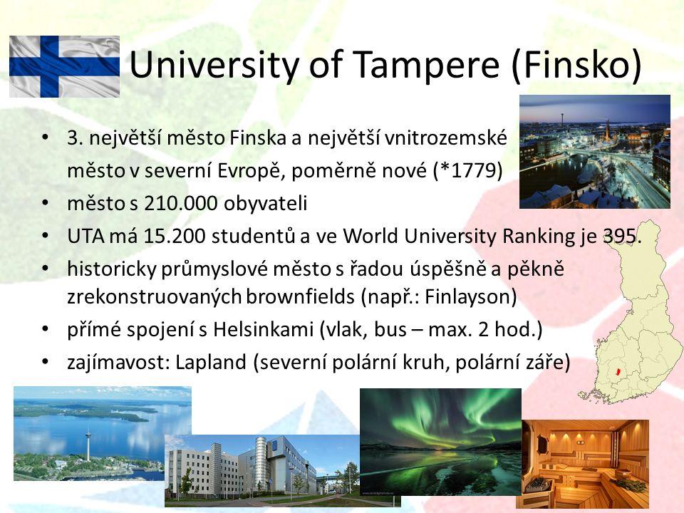 University of Tampere (Finsko) 3.