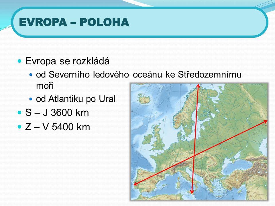 Evropou prochází severní polární kruh a nultý (Greenwichský) poledník Zakreslete je do mapy.