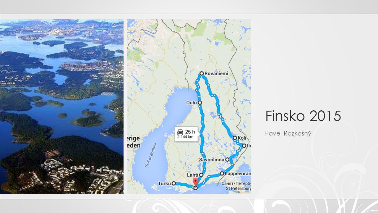 Savonlinna Ujeli jsme z Lappeenranty cca 150km do starého města Savonlinna.