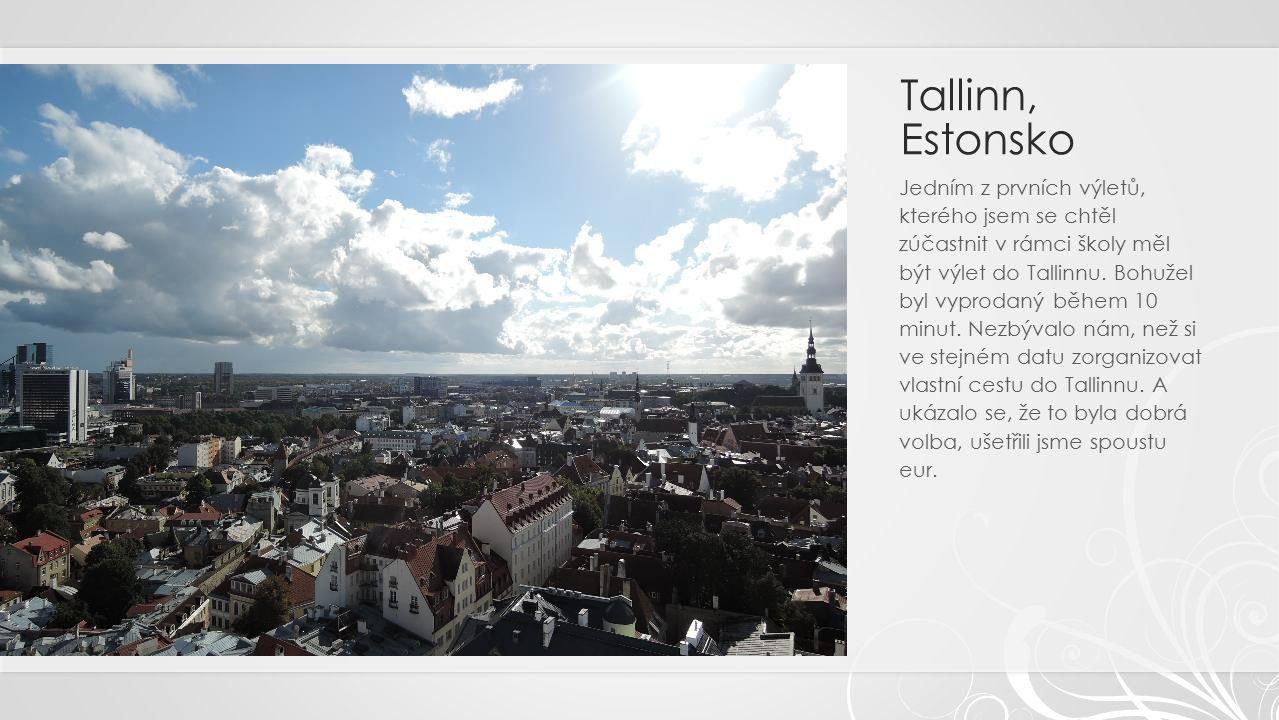 Tallinn, Estonsko Jedním z prvních výletů, kterého jsem se chtěl zúčastnit v rámci školy měl být výlet do Tallinnu.