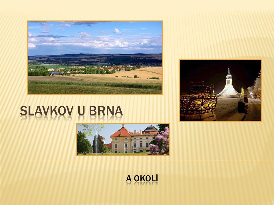 menší město východně od Brna v Jihomoravském kraji Slavkov, který je znám také pod jménem Austerlitz, dal jméno bitvě odehrávající se několik kilometrů na západ od města v roce 1805.