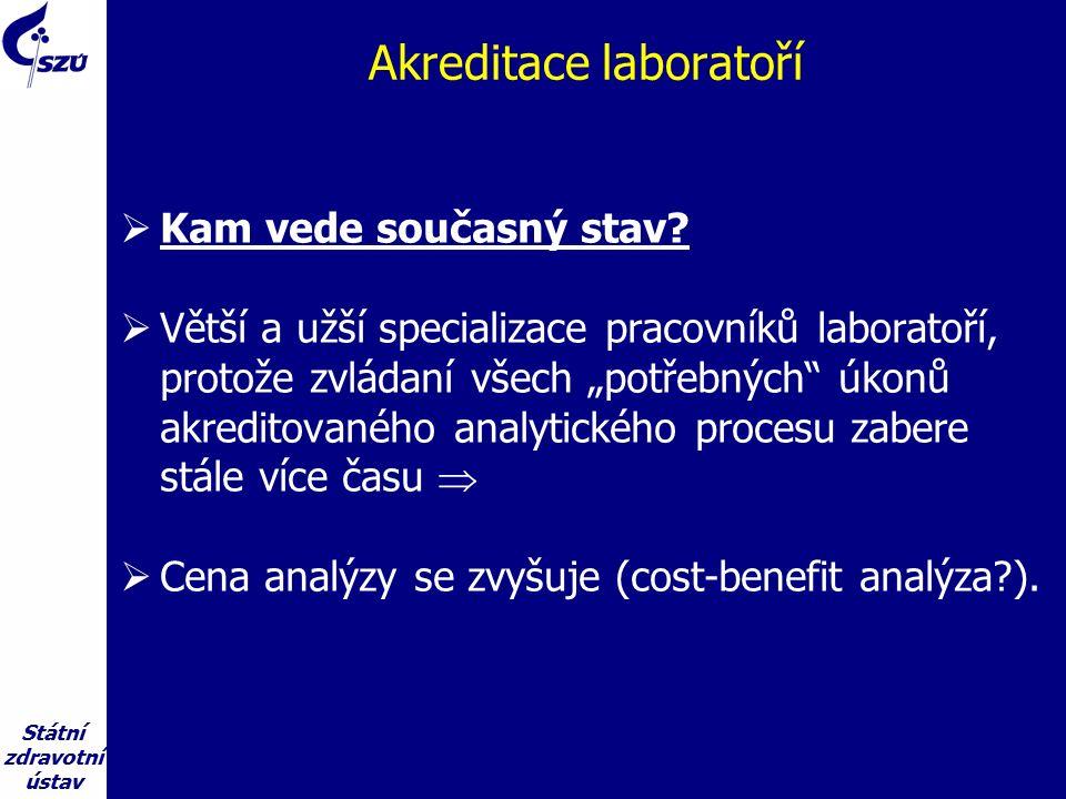 Státní zdravotní ústav Akreditace laboratoří  Kam vede současný stav.